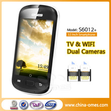 OMES D6012+ 3.5inch android2.3 SC6820 dual sim android tv