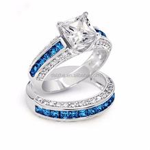 2015 high quality new nice beautiful ladies women sapphire wedding diamond ring