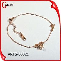 nepal gold fashion bracelet jewellery bowknot charm bracelet rhinestone for cut girls