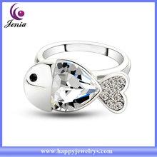 Lovely fish design 18k gold plated diamonds rings price ( YWR5156-1)