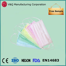 Xiantao Factory Japan supplier disposable non woven 3ply 17.5* 9.5 medical face mask
