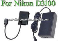Digital camera Adapter for Nikon camera Nikon COOPIX P7000 P7100,power supply for Nikon D5100 D3100 D3200