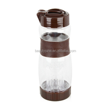 New Style Plastic Sport Water Bottle Plastic 600ml brown water bottle Shaker Cup For Protein Shakes Cup
