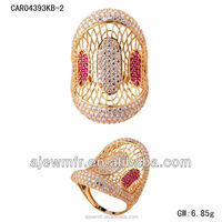 Dubai stylish 18K gold casting ring jewelry suppliers china