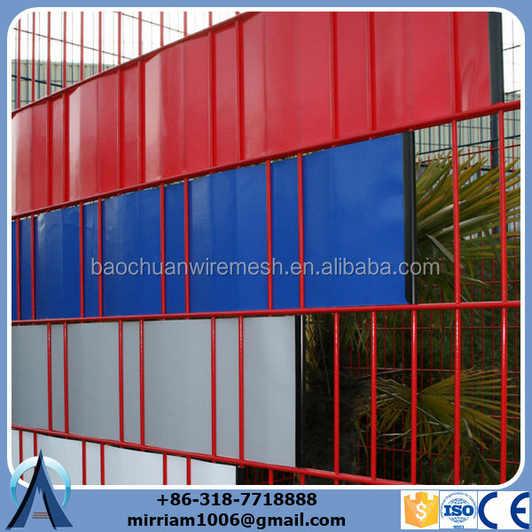 Colorful and privacy double rod wire mesh fence.jpg