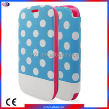 New Products On China Market Polka Dots Leather Phone Cover Mobile Phone Case For Motorola Moto E2 LTE XT1527