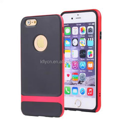 Hybrid assorted bumper colorful football line Dual Layer PC Silicone Case for iPhone 4 4S 5 5S 6 6Plus Samsung Calaxy S4 S5 S6