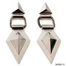 YIWU New Fashion Jewellery Exaggerated Style Geometric Diamond Alloy Dangle Earrings