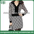 Modelo geométrico de punto clásico mujeres vestidos de moda