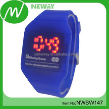 led touch screen silicone digital vogue watch