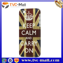 Keep Calm and Carry on Union Jack Flag Protective Case Cover for iPhone 5