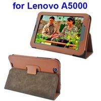 Wholesale Leather Case Cover for Lenovo A5000 with Holder
