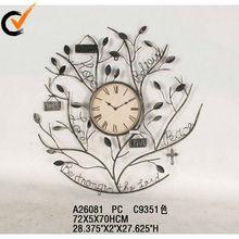2013 decorative antique metal clock wall