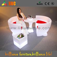 2016 New design lounge furniture LED drum shape table/luminous led furniture for decoration
