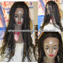 Brazilian virgin hair Fully Hand Braided Lace Front Wig