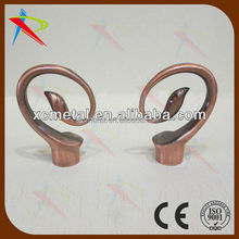 Good quality china made 22mm curtain pole finials copper color