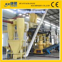home made wood pellet production line or Wood pellet making machine used to produce pellets as fuel