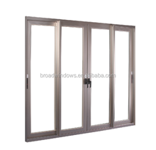 Brand broad aluminum sliding door with fly screen design for home balcony