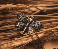 copper coated lovely butterfly pocket watch necklace/gift/pendent watch Factory Direct Sale!!!