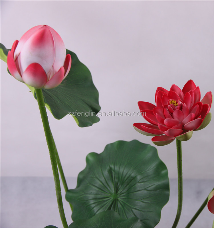 Nearly natural high quality artificial lotus flower wholesale 1g 3g mightylinksfo