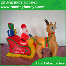 Hot Wholesale Outdoor Christmas Decoration 60-150cm Various Size Inflatable Santa /Led Christmas tree ICL0133