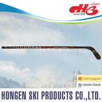 Hongen composite ice hockey stick--laminated wood shaft, ABS blade, puck
