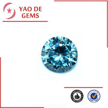 8mm Sea Blue Round Synthetic Cubic Zirconia Gem Wholesale