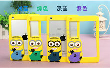 2014 new hot sale eco-friendly soft 3D Silicone frame case despicable me 3D silicone cover case for iphone 4S 5S 6 6 PLUS
