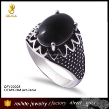 nail ring 2015 cheap silver jewelry DF120098 male muslim ring silver;value 925 silver ring mens
