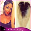 "Super 6A Grade! 10"" ombre blonde #1b/613 silky straight virgin peruvian two tone lace closure middle part"