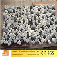 Stone mosaic pebble stone floor mat