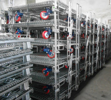Steel welded wire mesh warehouse cage