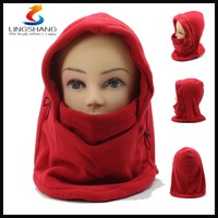 LINGSHANG full face mask outdoor ski neck warmer hat multifunction headwear
