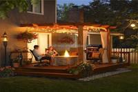 FRSTECH wood slats for cast iron bench wpc decking & composite wood pergola carport