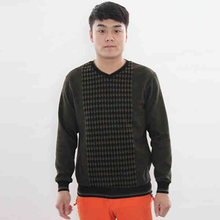 Combed Cotton Lycra Heated Thermal Underwear Men Thick Long Sleeve Long John V-neck Thermal Clothing Set Simple Design