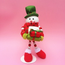 SD204 popular gift colorful plastic hanging Snowman christmas tree decorations