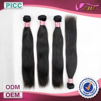 Factory Price 18 Inch Straight Raw Indian Human Hair Weaving Weft