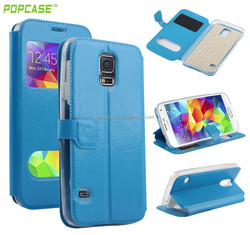 2015 New arrival wallet leather flip case for Samsung s5