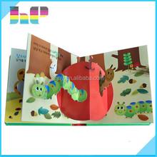 2015 unique full color korea animal pop-up books printing