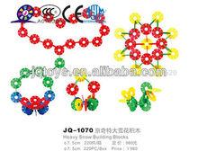 Jq1070 não- tóxicos para crianças plástico floco de neve grande blocos de brinquedo de infância