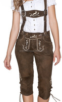 Wholesale oktoberfest cheap lederhosen, traditional women lederhosen with cheap prices