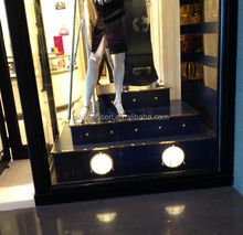 3 step tyle new dress advertising stage for clothing shop window