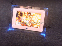 """led light acrylic digital photo frame, 7"""" small electronic picture frames"""