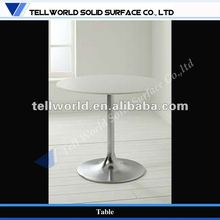 Factory Restaurant Indoor White Stone Coffee Table Top