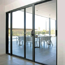 China factory thermal break tempered double glazed vertical sliding door