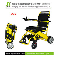 lightweight folding wheelchair with motor plant
