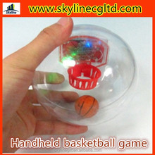 interesting promotional mini hand hold basketball with music and light
