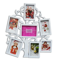 Top quality fashion design photo frame collage, Photo frame with hanger, Tree Shaped Plastic Wall Photo Picture Frame