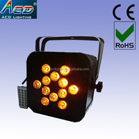 HOT 12*15w 5in1 RGBWA battery power led lights,rgbwa battery power & wireless dmx led par,wireless battery powered led par