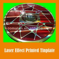 JIS G3003 Laser effect printed tinplate sheet for fancy can production